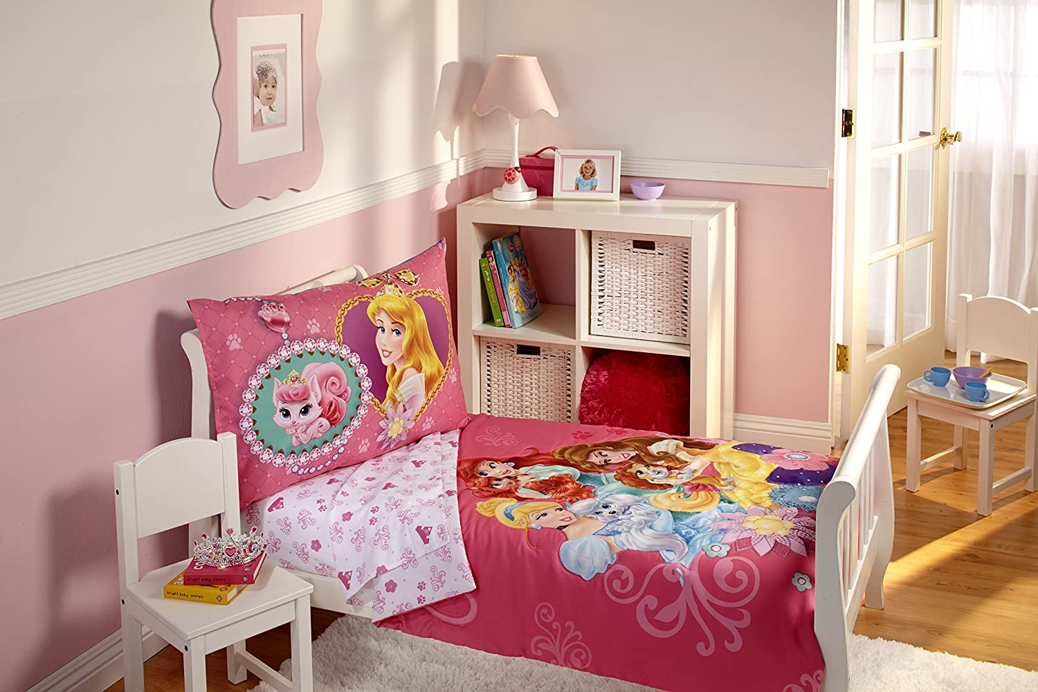 Ideal Amazon.com : Disney Princess 4 Piece Toddler Bedding Set, Palace  NB85