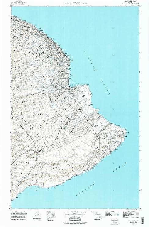 Amazon.com : YellowMaps Hawaii County Sheet 2 HI topo map, 1:100000 ...