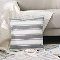 Stripe Linen Throw Pillow Cover