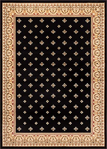 Well Woven Barclay Hudson Terrace Black Traditional Area Rug 9 3 X 12 6