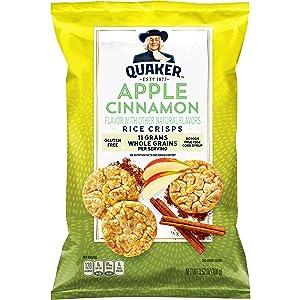 Quaker Rice Cake Apple Cinnamon, 3.52 oz Bag