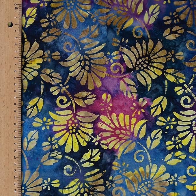 Fabric Freedom Tela de algodón 100%, diseño Enigma, Color Azul ...