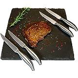 Lars NYSØM Design Steakmesser Edge α I 4 Teiliges Steak-Knife Set aus Hochwertigem Edelstahl I Premium Geschenkbox