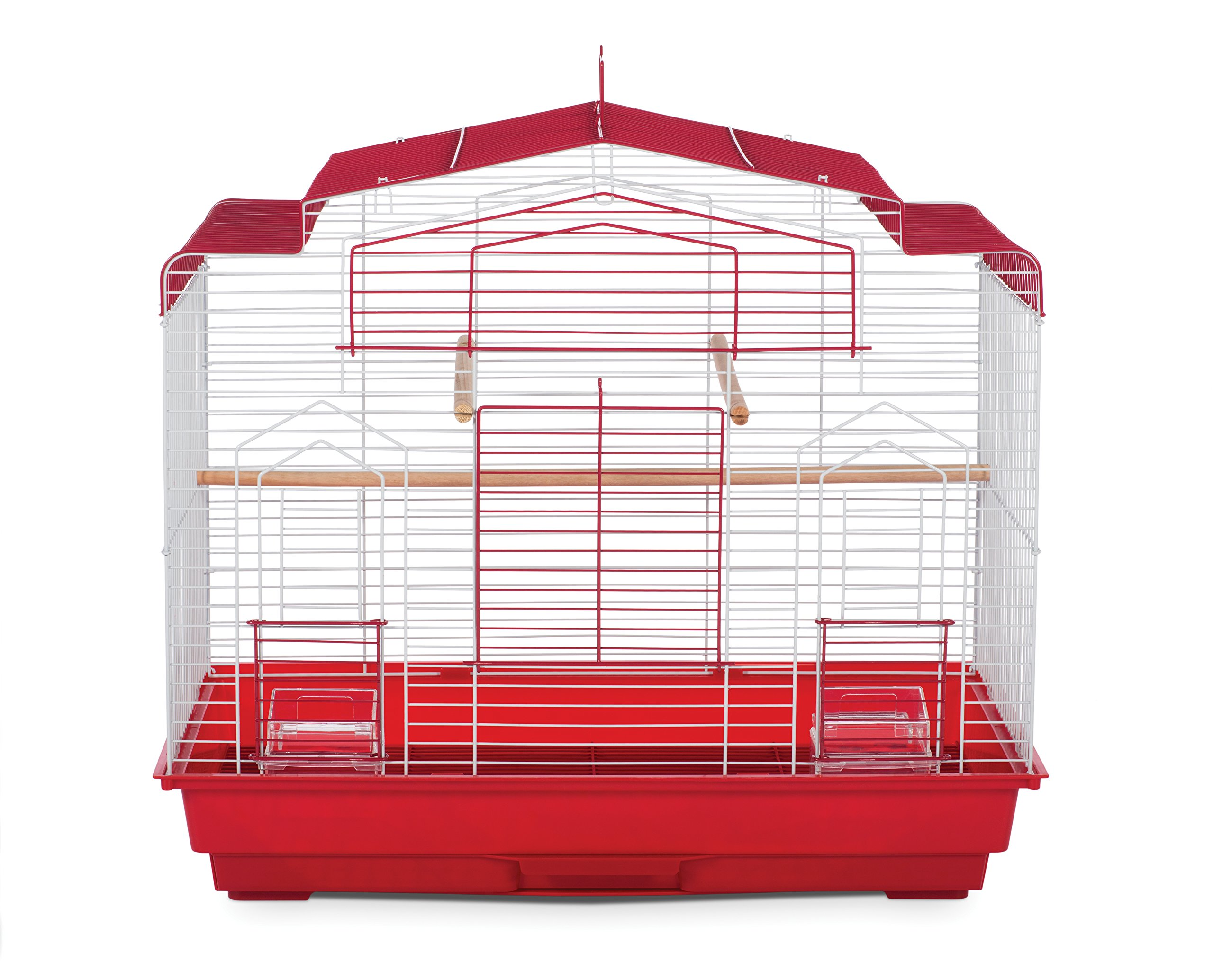 Prevue Pet Products SP50041 Barn Style Bird Cage, Red/White by Prevue Pet Products