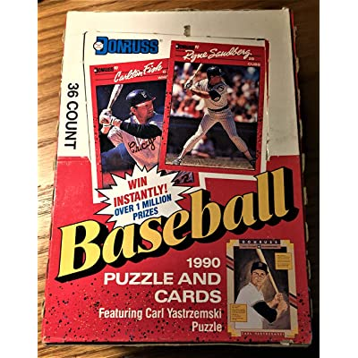 1990 Donruss Baseball Card Wax Pack Box (36 Count): Sports & Outdoors