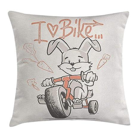 Animal Decor Throw Pillow Cushion Cover by, Cartoon Style ...