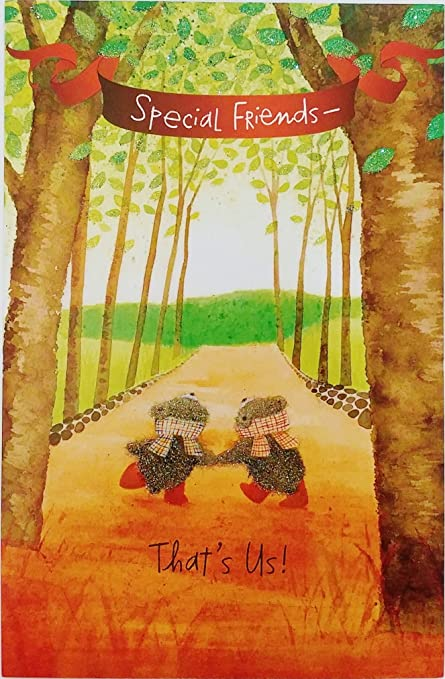 special friends thats us happy thanksgiving greeting card w bears