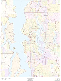 Amazon.com: Gifts Delight Laminated 24x37 Poster: Thematic Map - Map ...
