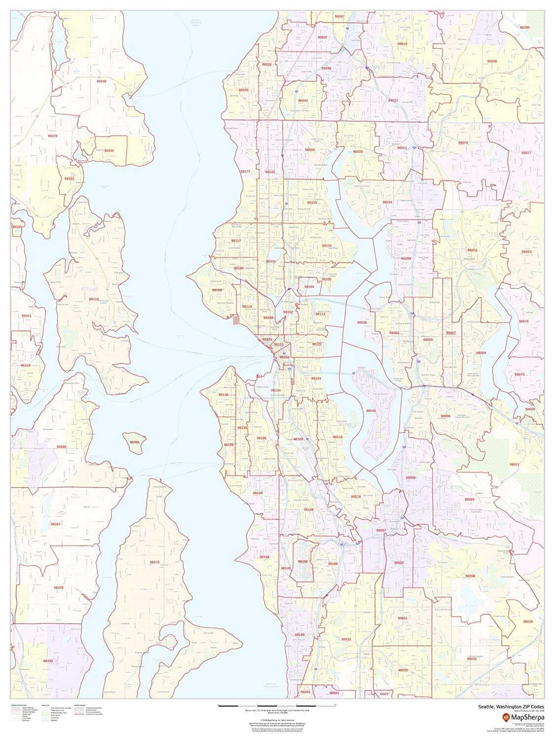 Amazon.com : Seattle, Washington Zip Codes - 36