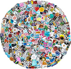 500 PCS Stickers Pack (5-500Pcs/Pack), Cool Waterproof Stickers for Flask, Water Bottle, Laptop, Phone, Aesthetic Vinyl Stickers for Children,Teens,Adults