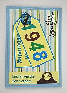 5x Fröhliche Einladungskarten Zum 70. Geburtstag *1948*Handmade*