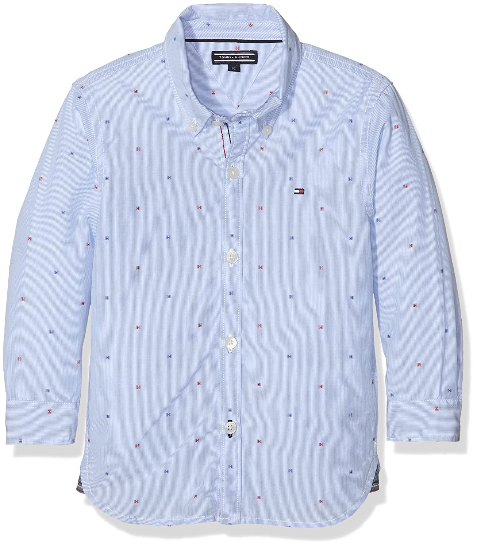 Tommy Hilfiger Jungen Hemd H Dobby Shirt L/s