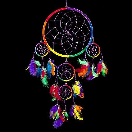 Amazoncom Dream Catcher Traditional Rainbow Multi Colour With