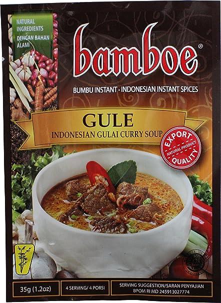 Bamboe Bumbu Gule (Sopa indonesia de curry Gulai), 35 gramos (Pack de