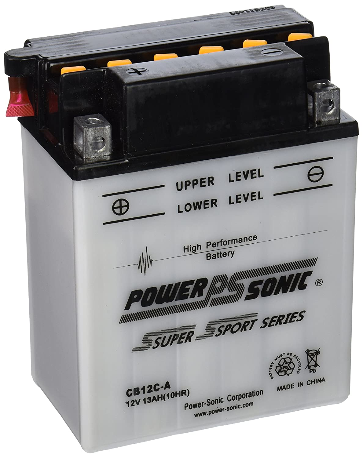 Power-Sonic CB12C-A Conventional Powersport Battery