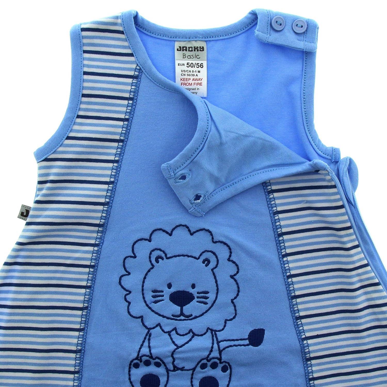 JACKY - Saco de dormir para bebé turquesa Hellblau geringelt Talla:50/56: Amazon.es: Bebé