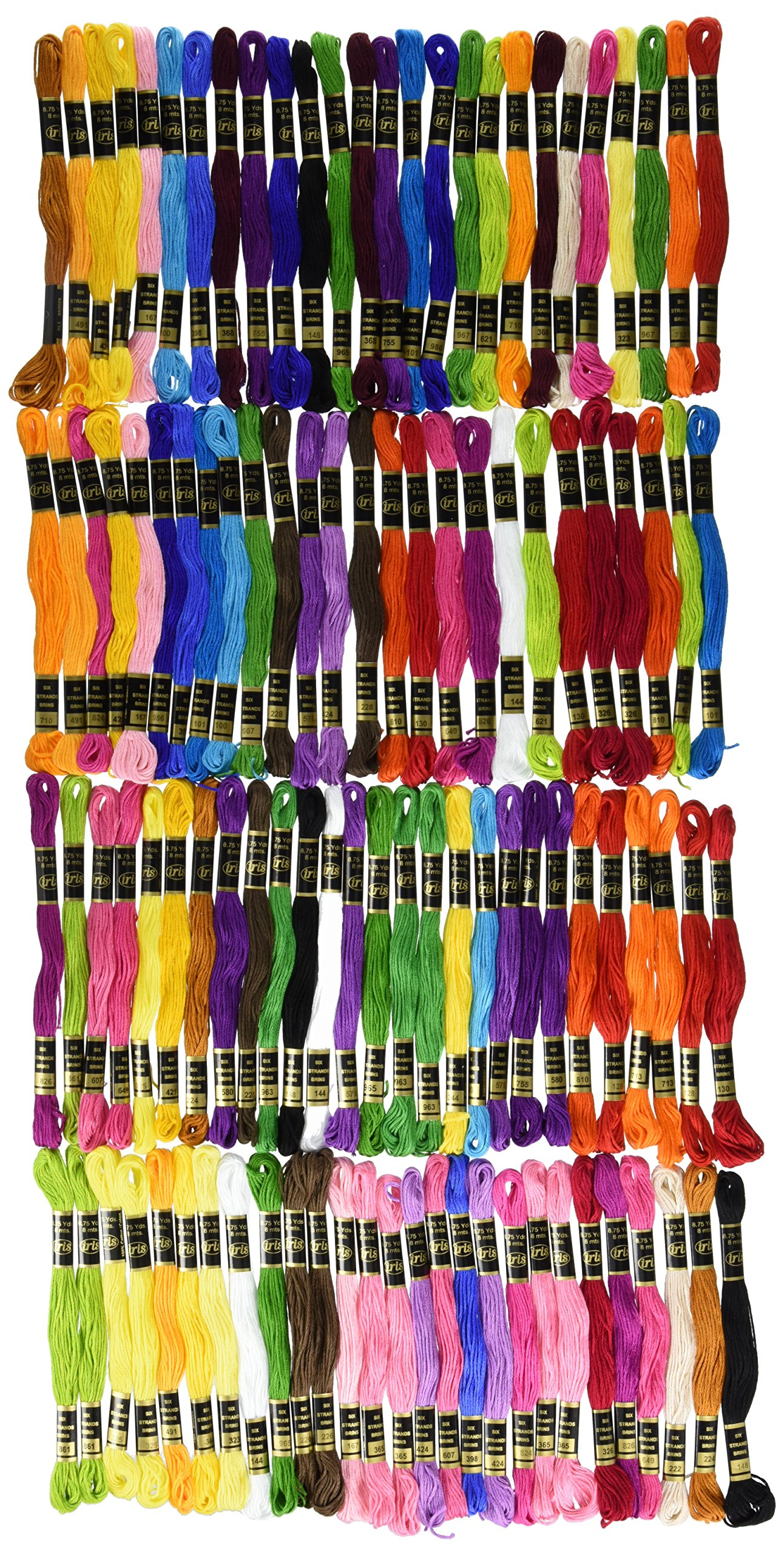 Iris 1265 105-Pack Embroidery Giant Floss Pack, 8m by IRIS USA, Inc.