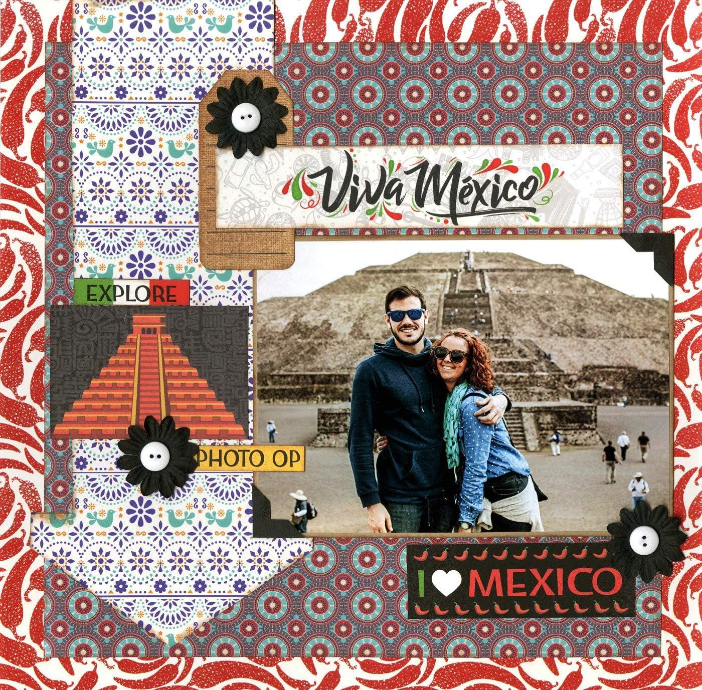 Multi Color Palette Reminisce Mexico Scrapbook Collection kit Paper Crafts