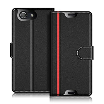 promo code 90187 61336 Sony Xperia Z3 Compact Case, Coodio Xperia Z3 Compact Leather Case, Sony  Xperia Z3 Compact Wallet Case, Stylish Magnetic Closure Flip Case Cover ...