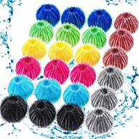 24 Pieces Pet Hair Remover for Laundry Pet Hair Dryer Ball Laundry Ball Lint Remover Washing Ball for Laundry, 8 Colors