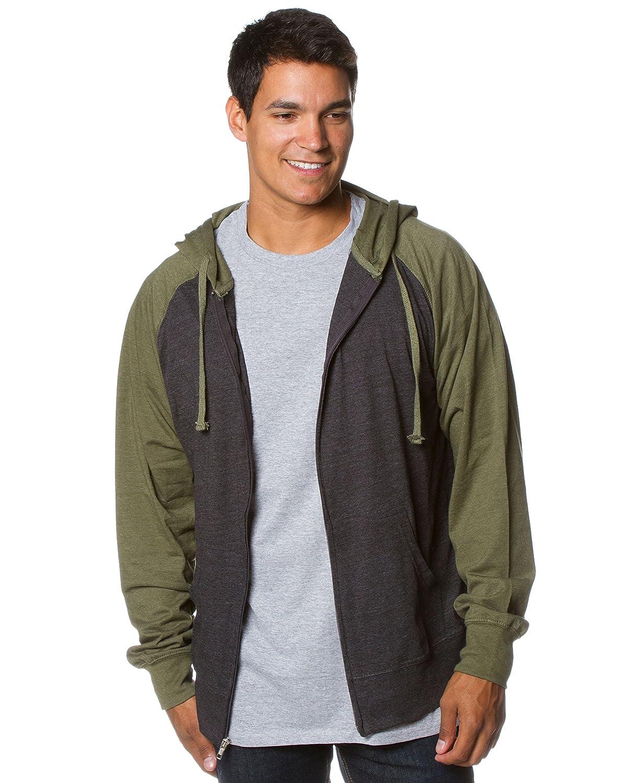 99471e40b Amazon.com: Global Blank Mens Lightweight Tshirt Jersey Full Zip Up Hoodie  Hooded Sweatshirt: Clothing