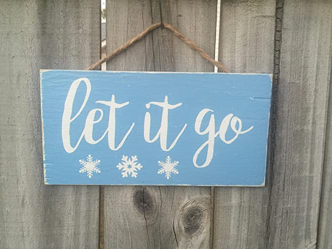 Let It Go Sign Rustic Frozen Inspired Birthday Party
