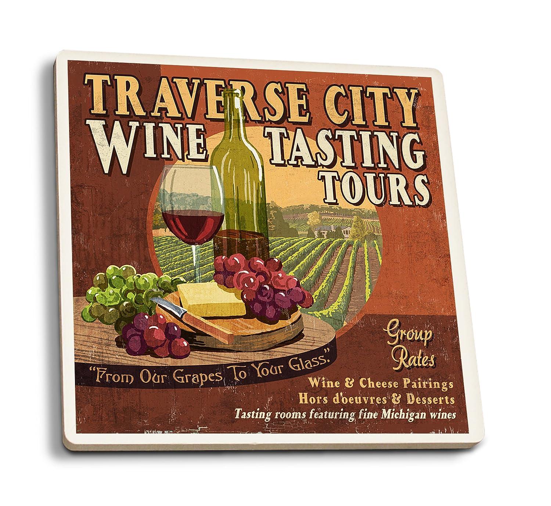 注目ブランド Traverse Set City、ミシガン州 Coaster – Wine Wine Tasting Vintage Sign 15oz Mug LANT-3P-15OZ-WHT-43924 B01FOLU1D0 4 Coaster Set 4 Coaster Set, LTD SPORTS ONLINE STORE:5415e8c5 --- podolsk.rev-pro.ru