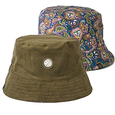 48c7a386d05b2 Pretty Green Reversible Cord Bucket Hat Khaki Paisley M L Khaki   Amazon.co.uk  Clothing