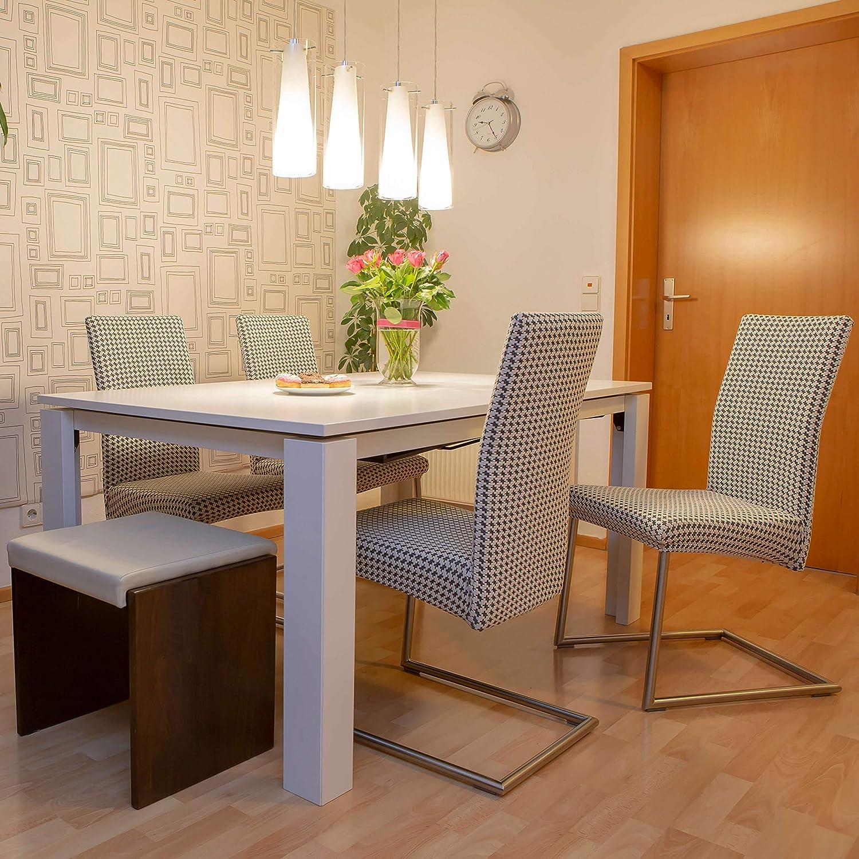 Stuhlhusse Schwingstuhl: Staboos 2er Set, Universal Stretch Karo Stuhlhusse, Stuhlbezug aus Baumwolle