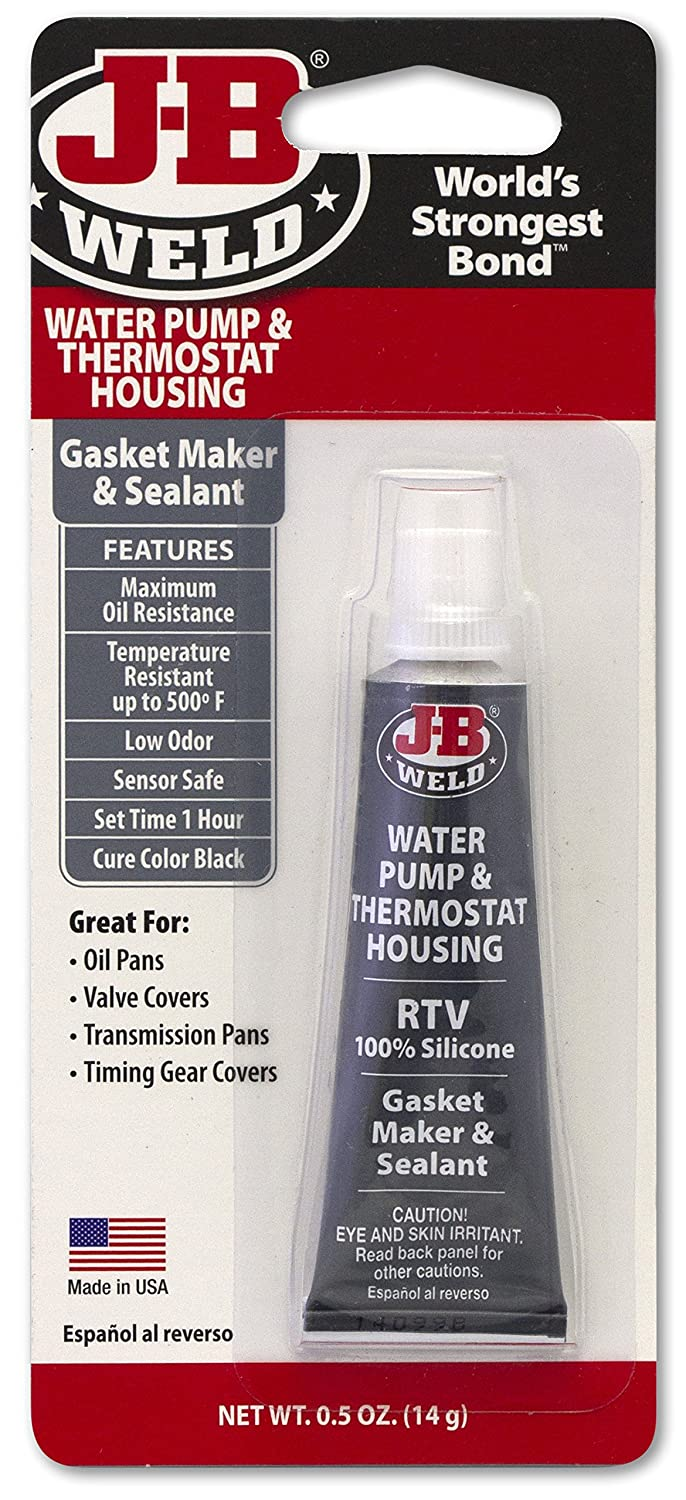 J-B Weld 32507 Water Pump and Thermostat Housing RTV Silicone Gasket Maker and Sealant - .5 oz.