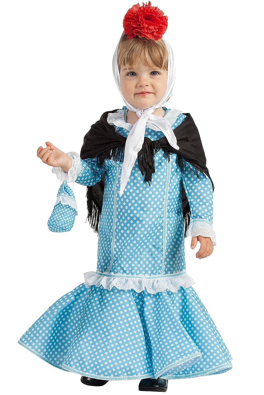 Disfraz de Madrileña Chulapa Azul (7-12 meses): Amazon.es ...