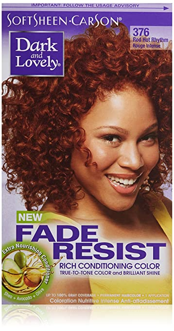 Softsheen Carson Dark And Lovely Fade Resist Rich Conditioning Color Red Hot Rhythm 376