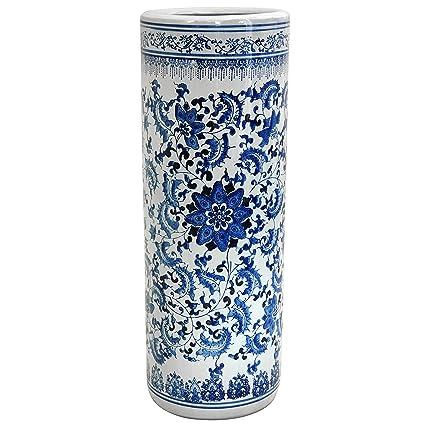 Amazon Oriental Furniture 24 Floral Blue White Porcelain