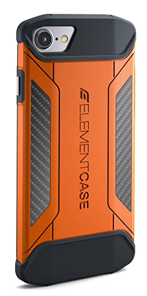 pretty nice c9f19 4347a Element Case CFX Mil-Spec Drop Tested Case for Apple iPhone 7 / iPhone 8 -  Orange (EMT-322-131DZ-22)