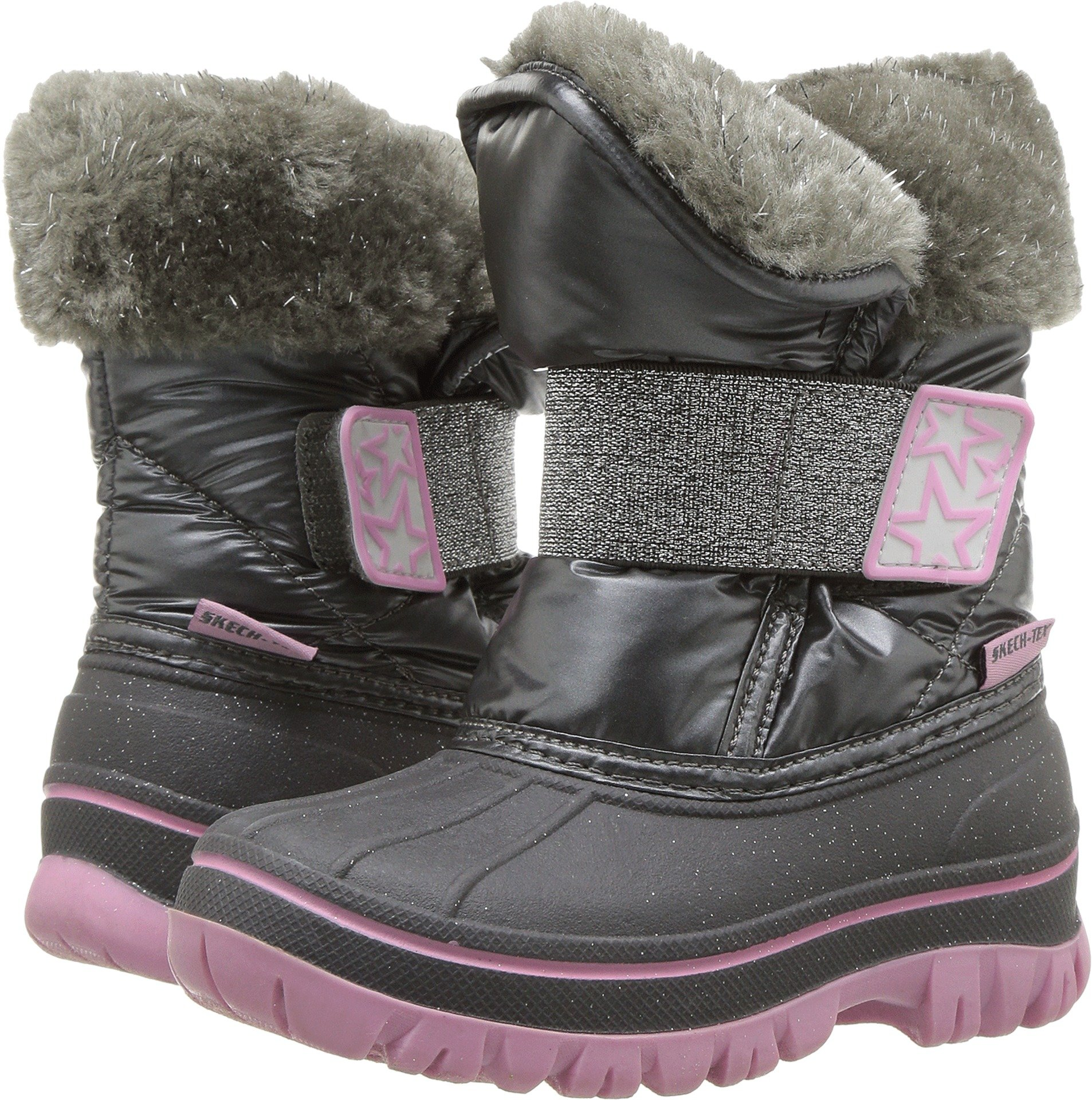 Skechers Kids Baby Girl's Lil Windom - Starry Sparkles 88879N (Toddler/Little Kid) Charcoal 8 M US Toddler