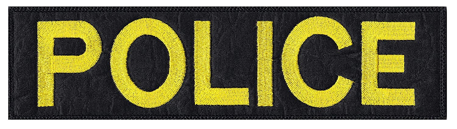 Multi Option Vest Jacket Police Name Plate Id Tag Cosplay Art Patch GLUE-0202-BL-WT