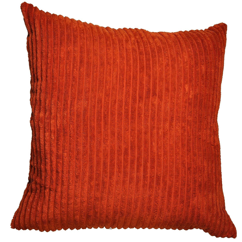 Just Contempo Jumbo Cord Cushion Cover Orange 21x21 inches