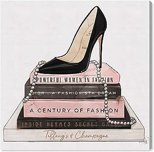 Oliver Gal 'Classic Stiletto and High Fashion Books' The Fashion Wall Art Decor Collection Contemporary Premium Canvas Art Print