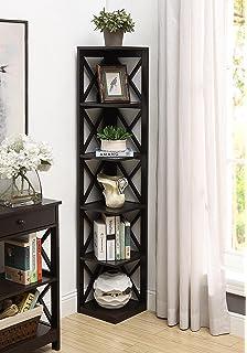 Convenience Concepts Oxford 5 Tier Corner Bookcase Espresso