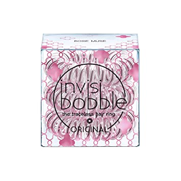 Amazon.com   Invisibobble The Traceless Hair Ring - Time to Shine - Rose  Muse - 3 Pack   Beauty 9026bf845d9