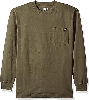 5e524552 Amazon.com: Dickies Men's Long Sleeve Heavyweight Crew Neck: Fashion ...