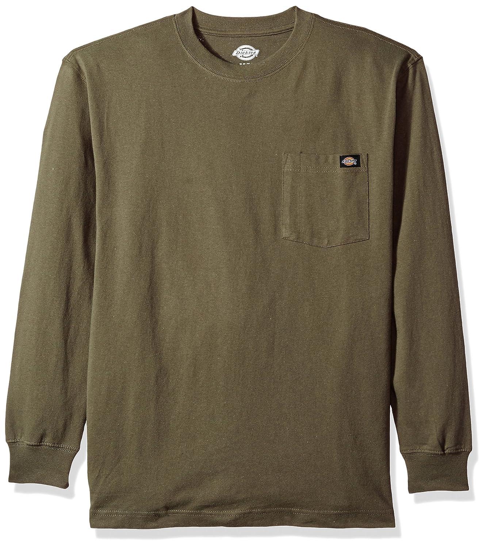 Dickies メンズ長袖厚手クルーネックTシャツ 大きいサイズ B06Y5BF2TY XX-Large x Tall|モスグリーン モスグリーン XX-Large x Tall