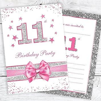 Olivia Samuel 11th Birthday Party Invitations