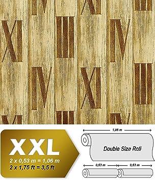 GroBartig Holz Tapete Vliestapete EDEM 945 22 Hochwertige Tapete In Holzoptik  Holzdielen Römische Zahlen Deko Grün