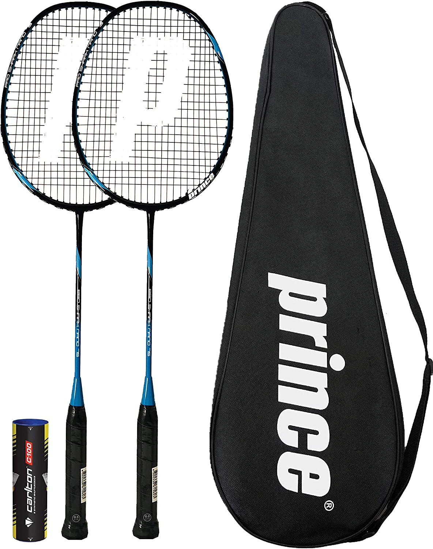6 Volants Prince 2 x Pro Nano Ti 75 Graphite Badminton Raquettes Diverses Options