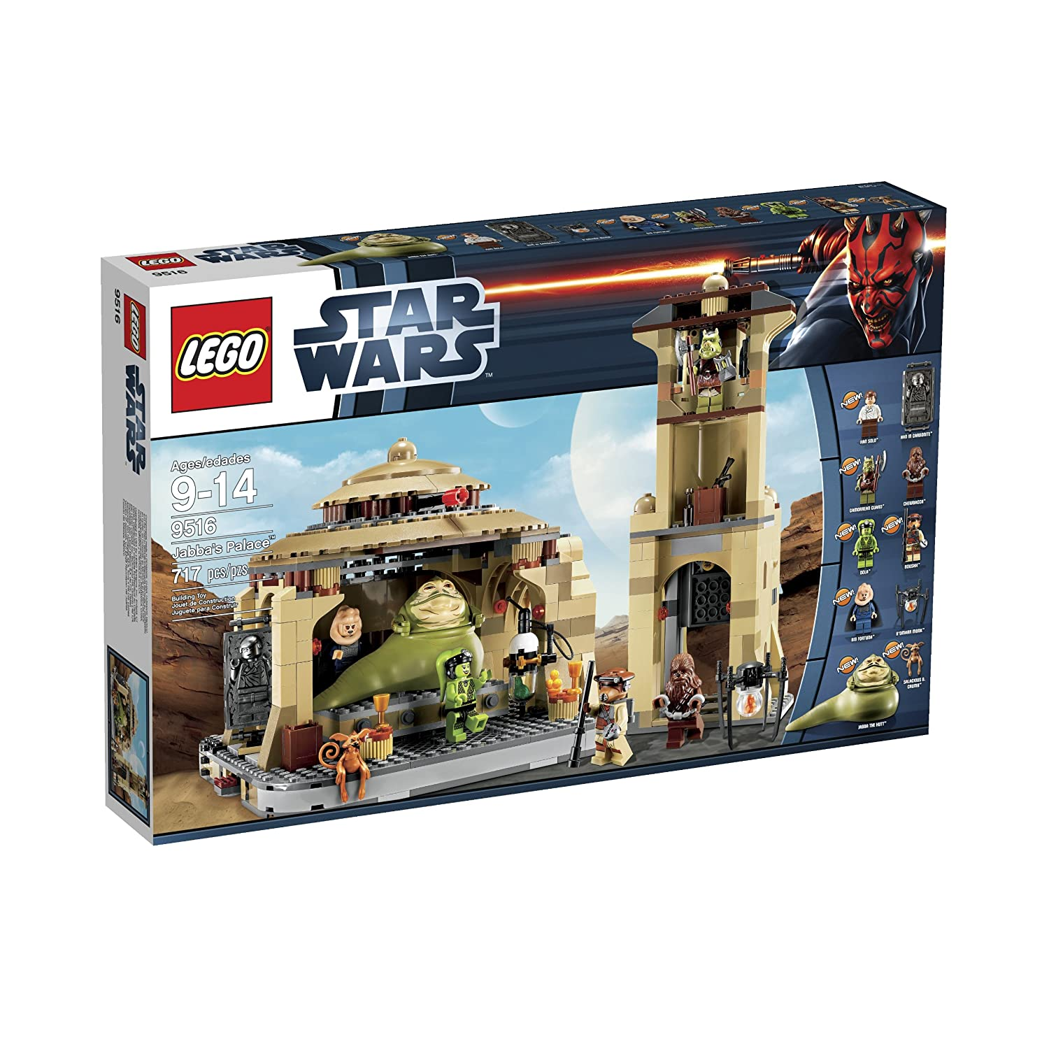 625ce90736 Amazon.com: LEGO Star Wars 9516 Jabba's Palace (Discontinued by  manufacturer): Toys & Games