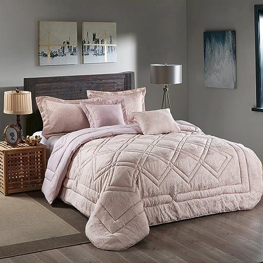 Pink 5 Piece New Season Home Paloma Comforter Set King