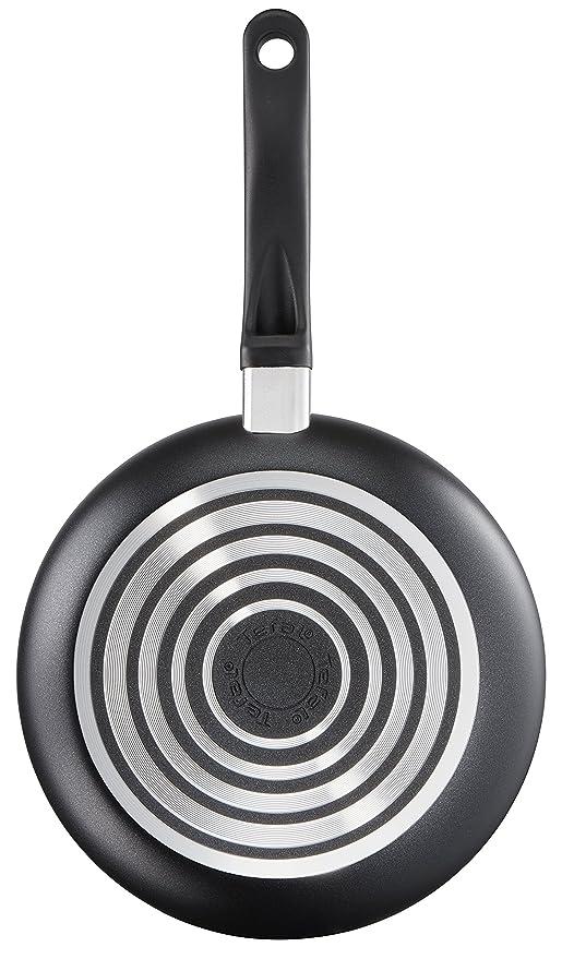 Tefal Delight Batería de Cocina, Aluminio, Negro, 5 Piezas, 5 Unidades