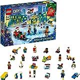 LEGO 60303 City kalendarz adwentowy 2021 mini zestaw do montażu, zabawka dla dzieci od 5 lat, z deską do zabawy i 6 mini…
