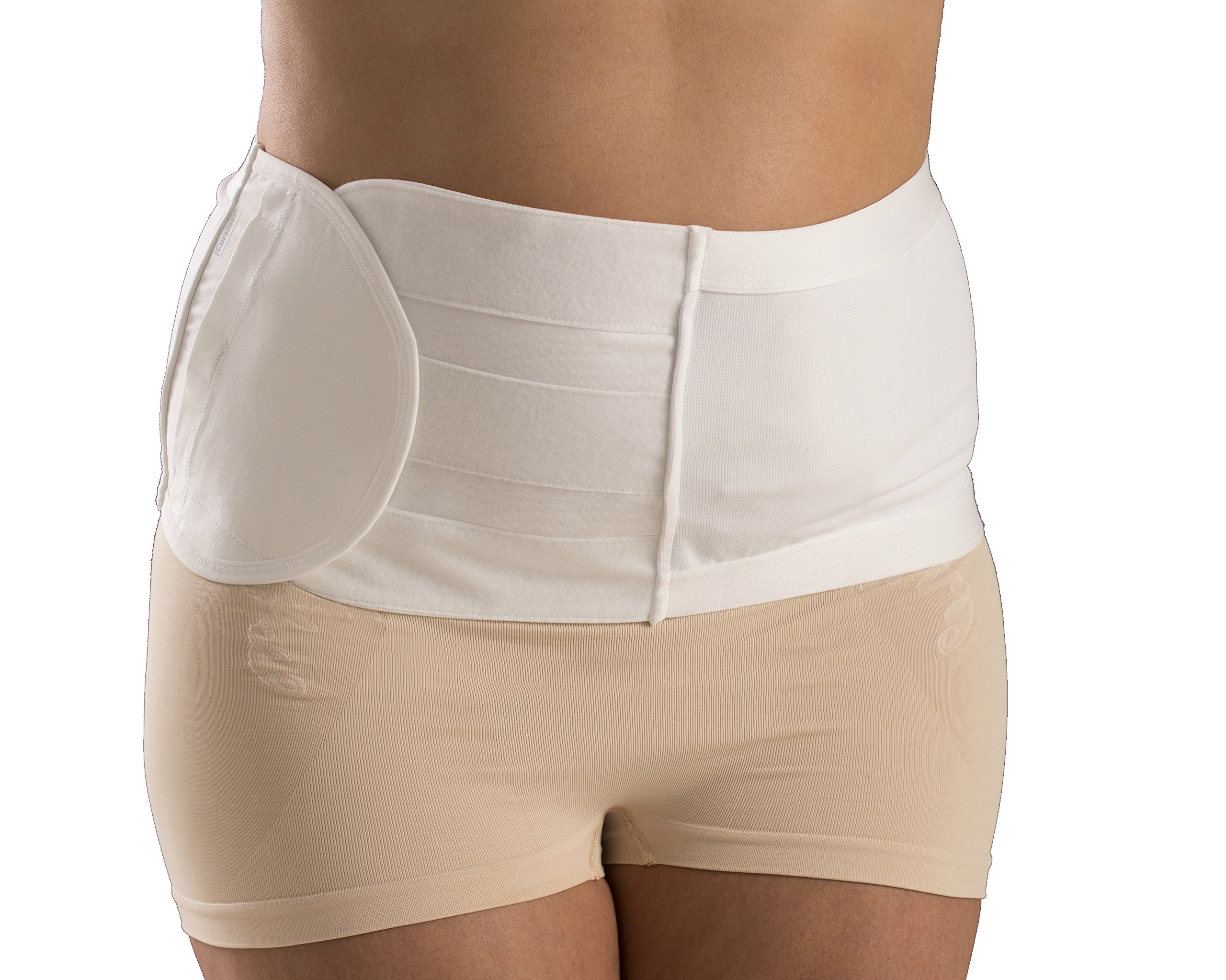 Corsinel Hernia Support Belt, 20 cm Tan 3519 (Tan, XL) by Corsinel